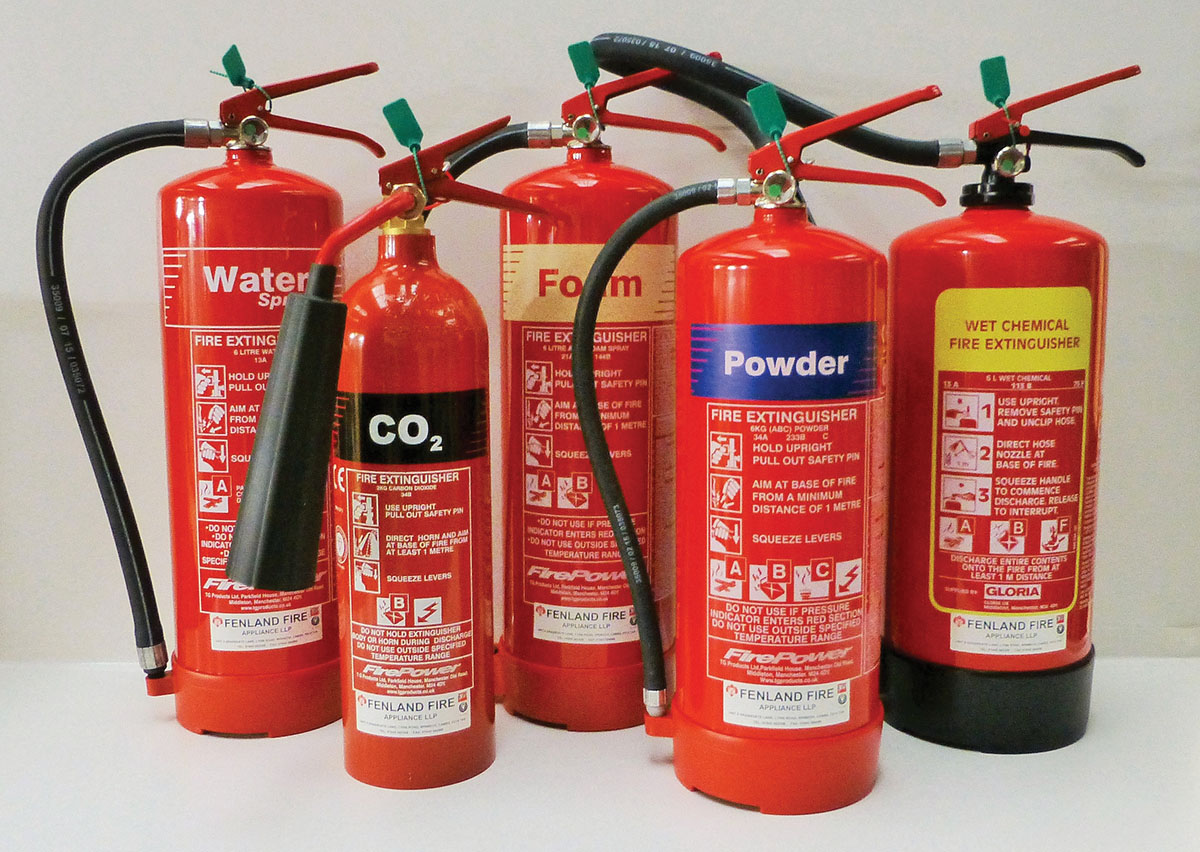 1-Group of Fire Extinguishers